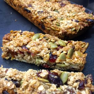 Breakfast Bars made using coconut oil