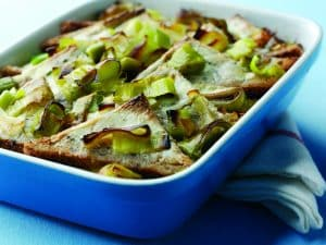 leek-and-bread-pudding