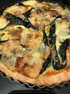 Cavolo Nero, Bacon & Blue Cheese Tart