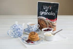 Lizi's Granola Strawberries & Cream Scones for St George's Day