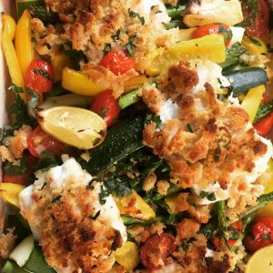 Spicy Fish with Courgettes