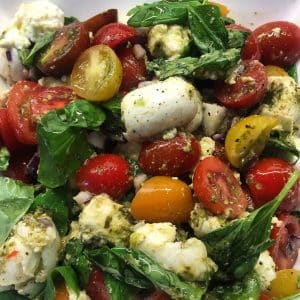Easy Peasy Tomato & Mozzarella Salad