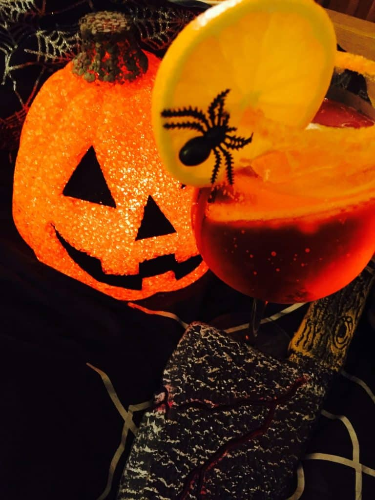 Fiendish Fizz Halloween cocktail