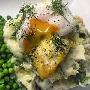 Smoked Haddock and Mash also called Bubble & Smoke