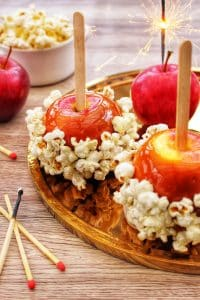 Salted Caramel Popcorn Apples