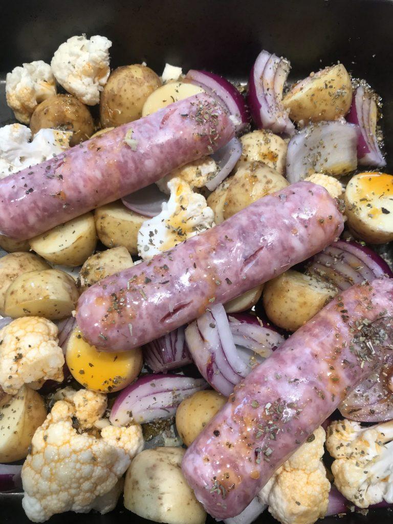 Easy Sausage & New Potato Tray Bake