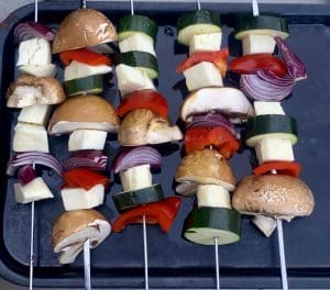 Simple Halloumi Skewers