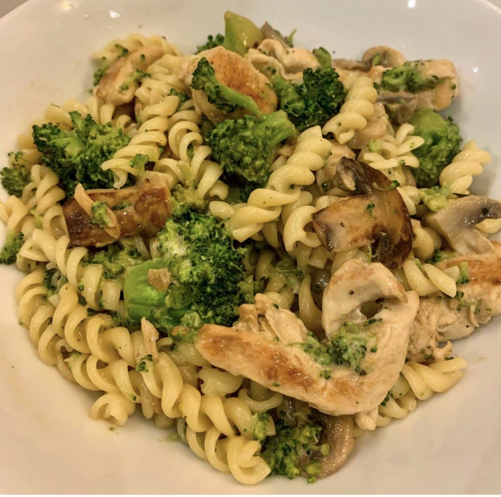 Healthy Chicken & Broccoli Pasta - cooked