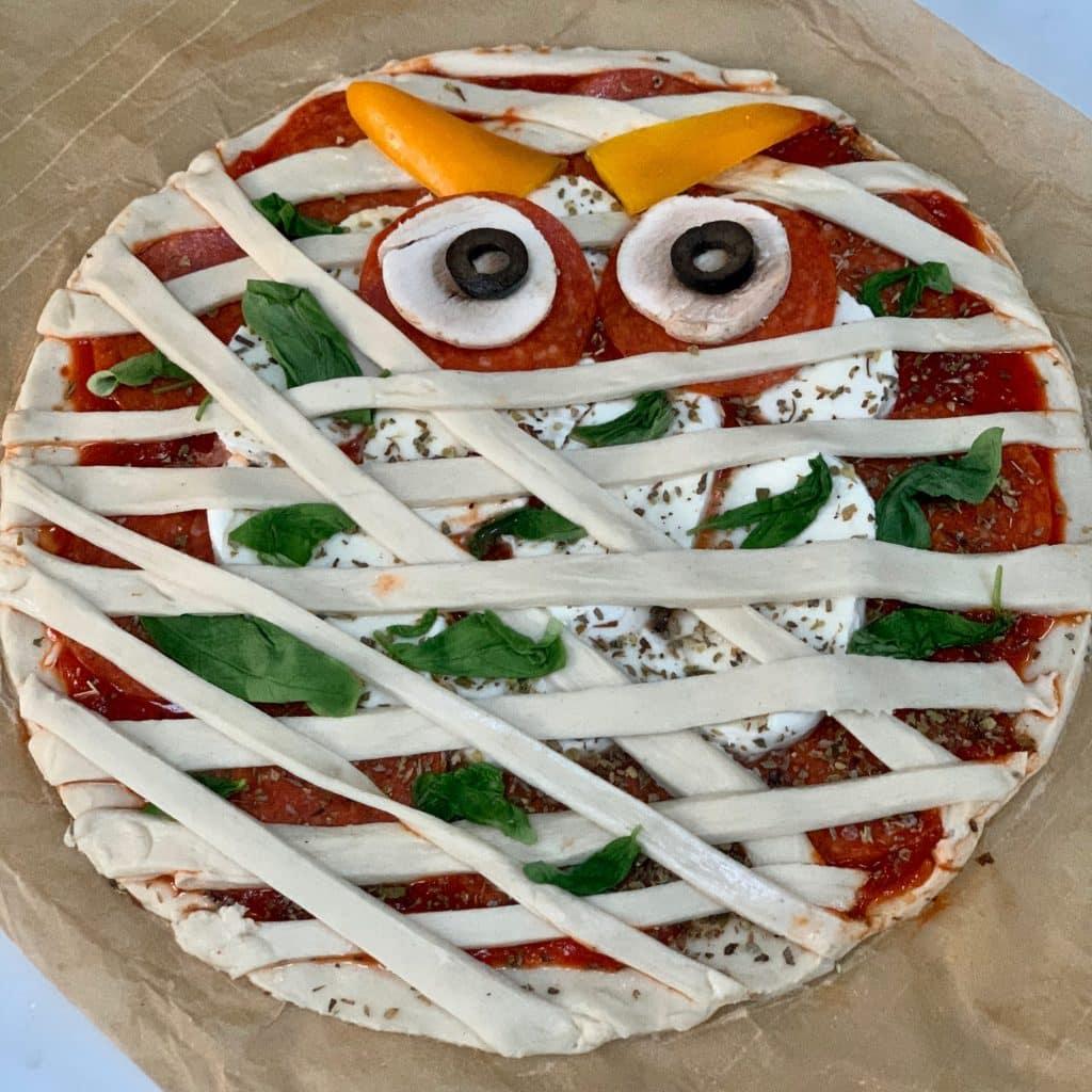 Halloween Pizza - unbaked